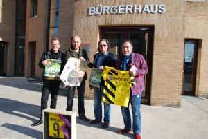 Lars Vegas, Christian Vosseler, Chris und Marcel Vor Bürgerhaus